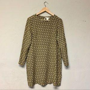 H&M Olive Green Printed Dress
